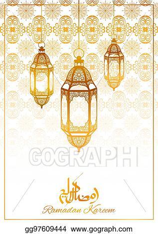 Vector art ramadan kareem generous ramadan greetings for islam ramadan kareem generous ramadan greetings for islam religious festival eid with illuminated lamp m4hsunfo
