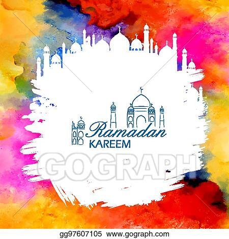 Vector art ramadan kareem generous ramadan greetings in arabic ramadan kareem generous ramadan greetings in arabic freehand with mosque m4hsunfo