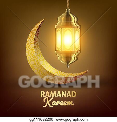 Vector Illustration Ramadan Kareem Greeting Card Vector
