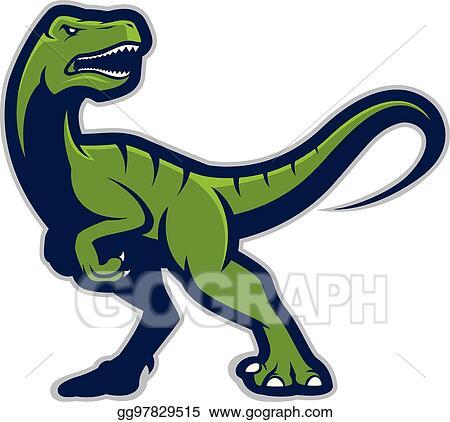 vector art raptor mascot clipart drawing gg97829515 gograph rh gograph com Raptor Outline Raptor Outline