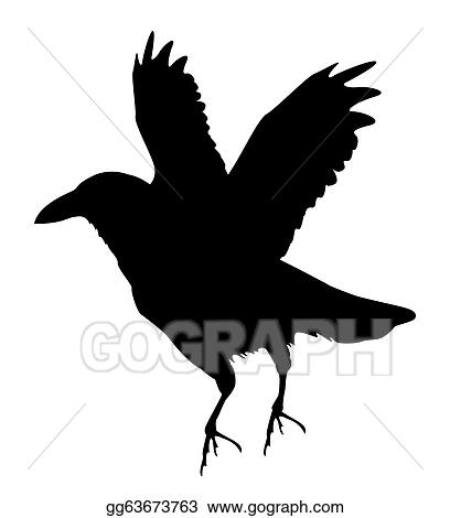 Vector Clipart Raven Silhouette Vector Illustration Gg63673763 Gograph Download available in both svg and dxf file formats. gograph
