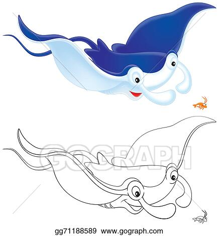 stock illustration ray manta and krill clipart illustrations rh gograph com Krill Clip Art Simple Squid Clip Art