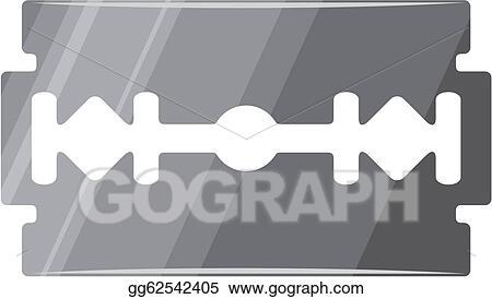 EPS Vector - Razor blade (macro of razor blade)  Stock