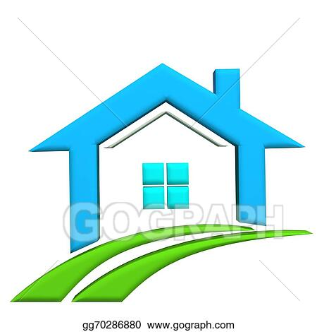 real estate houses clipart. stock illustration real estate 3d icon house and swoosh road clipart illustrations gg70286880 houses o