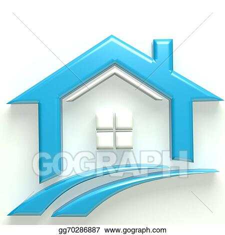 real estate houses clipart. stock illustration real estate 3d icon house and swoosh road clipart illustrations gg70286887 houses