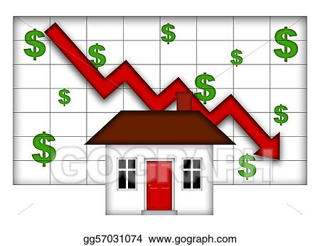 Clipart Real Estate Home Values Going Down Stock Illustration Gg57031074 Gograph