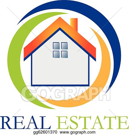 real estate houses clipart. vector art real estate house logo clipart drawing gg62601370 houses s