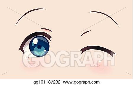 Vector Art Real Smiling Anime Eyes Manga Girls Clipart