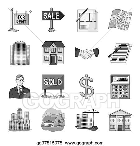 Stock Illustration - Realistic animals set icons in