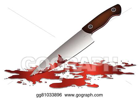 vector stock realistic bloody knife clipart illustration rh gograph com Blood Splatter Clip Art Hammer Clip Art