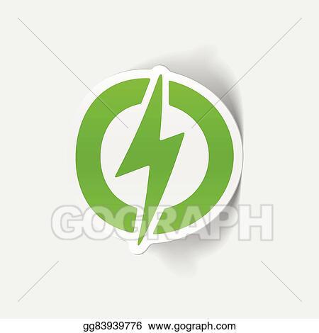 Vector Stock - Realistic design element: lightning bolt  Stock Clip