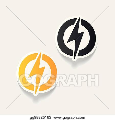 Vector Stock - Realistic design element: lightning bolt