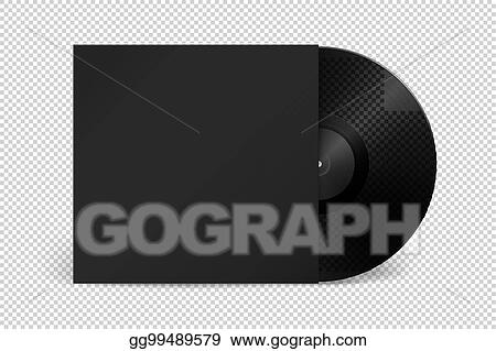 vector illustration realistic empty music gramophone vinyl lp record with cover icon closeup isolated on transparent background design template of retro long play for advertising branding mockup stock vector eps10 eps https www gograph com clipart license summary gg99489579