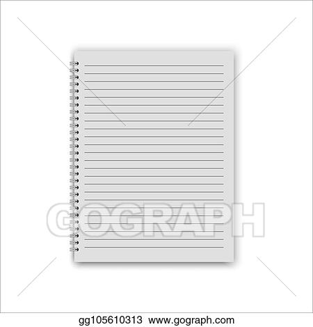 vector art realistic notepad template eps clipart gg105610313