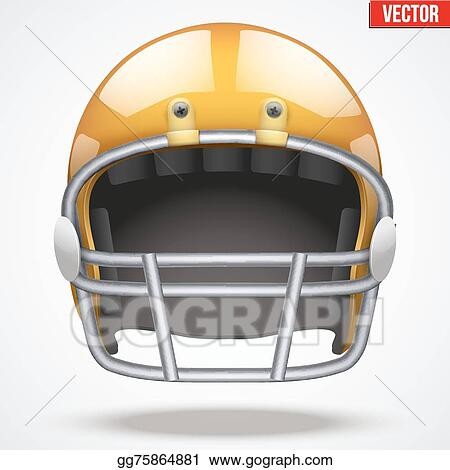 16c8a48c400 Vector Stock - Realistic orange american football helmet. front view ...