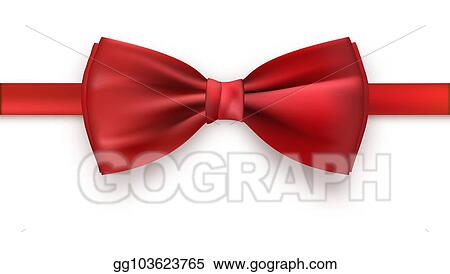 145a4dc4 Realistic red bow tie isolated on white background. Elegant silk neck bow,  3D illustration. Template of icon.