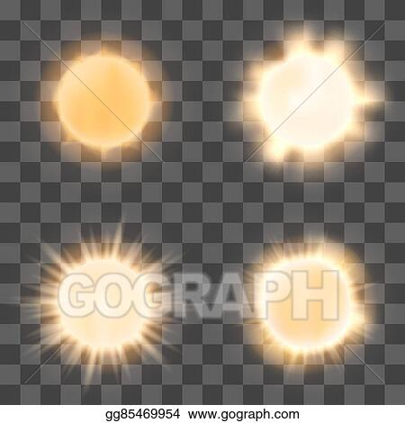 Realistic Sun On Transparent Background