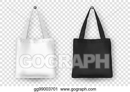 Vector Illustration Realistic Vector Black And White Empty Textile