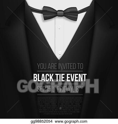 eps illustration realistic vector black suit black tie event