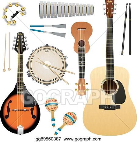 Vector Illustration Realistic Vector Musical Instrument Isolated