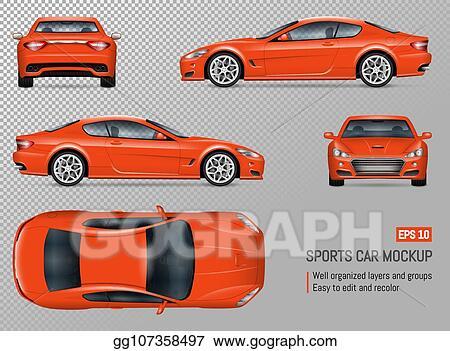 Vector Clipart Realistic Vector Sports Car Vector Illustration Gg107358497 Gograph