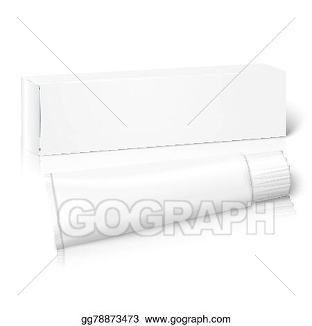 Vector Art Realistic White Blank Paper Package Box With Tube For Oblong Stuff Vector Clipart Drawing Gg78873473 Gograph