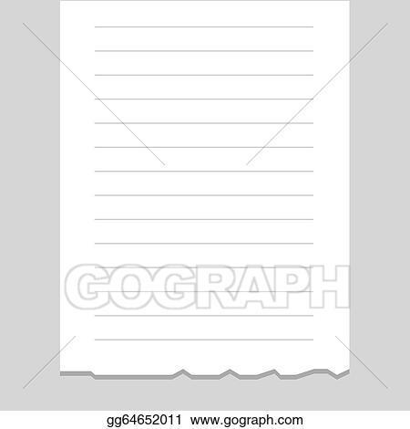 clip art vector receipt printout blank stock eps gg64652011