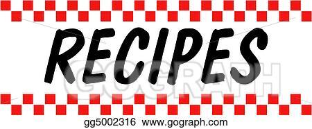 Vector Stock , Recipe baking cooking retro vintage. Clipart