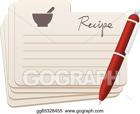 vector art recipe cards with red pen clipart drawing gg65328455 rh gograph com recipe card clipart borders recipe card clipart borders