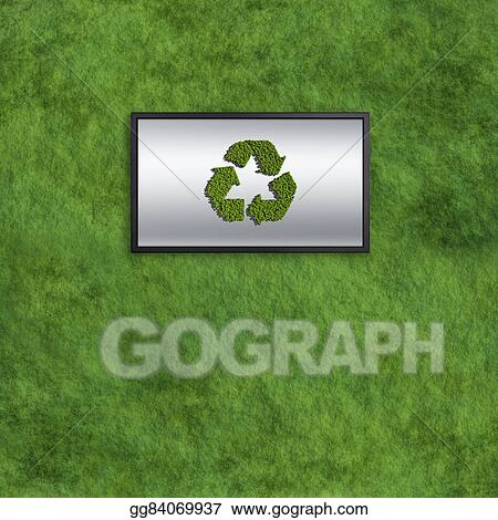 Clip Art Recycle Somputer Monitors Concept With Grass
