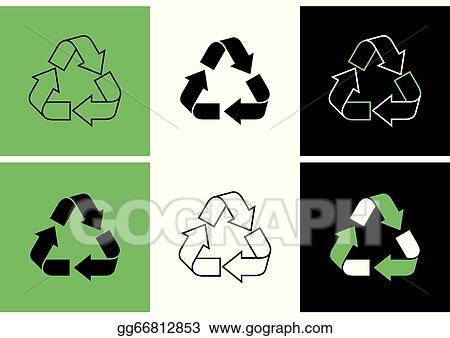 Vector Art Recycle Symbols Eps Clipart Gg66812853 Gograph
