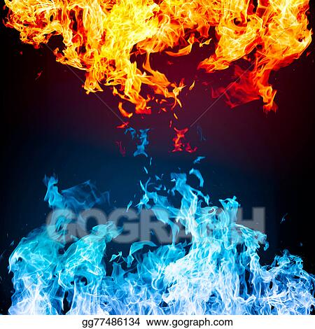 Stock Photo Red And Blue Fire On Balck Background Stock Photos Gg77486134 Gograph