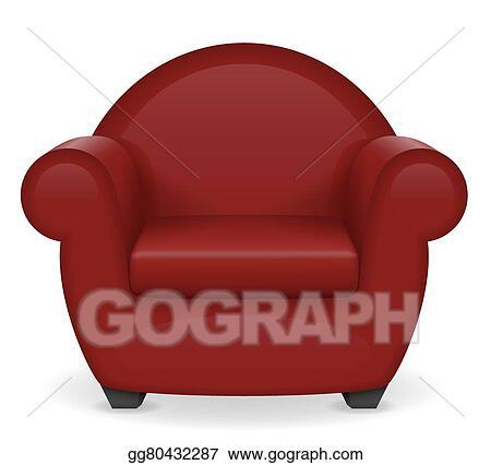 Tremendous Vector Illustration Red Armchair Furniture Vector Home Interior And Landscaping Mentranervesignezvosmurscom