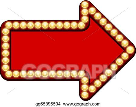vector art red arrow with light bulbs clipart drawing gg65895504 rh gograph com Arrow of Light Emblem Arrow of Light Template