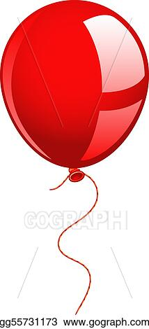 eps illustration red balloon vector clipart gg55731173 gograph