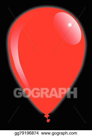 vector art red balloon clipart drawing gg79196874 gograph