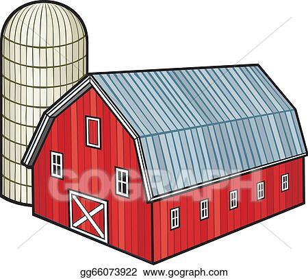 Red Barn And Silo Granary