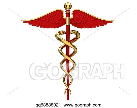 Stock Illustration Red Caduceus Medical Symbol Clipart Drawing