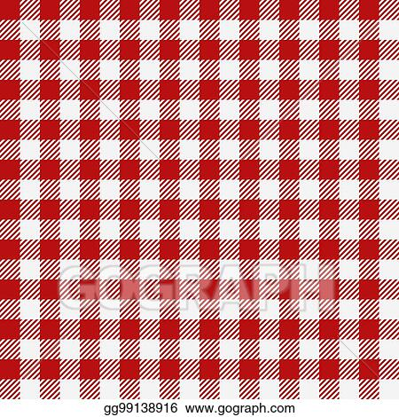 Vector Stock   Red Checkered Texture, Restaurant Seamless ...