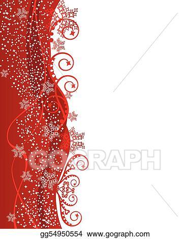 red christmas border design