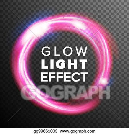 Vector Illustration - Red circles glow light effect vector  energy