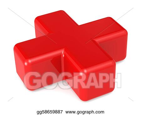 Stock Illustration Red Cross Clipart Gg58659887 Gograph