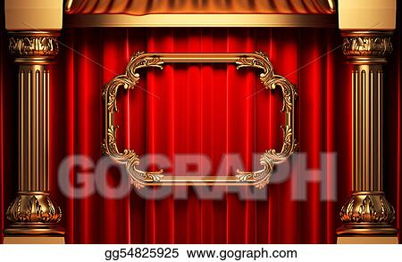 ed398c24d545 Clipart - Red curtains