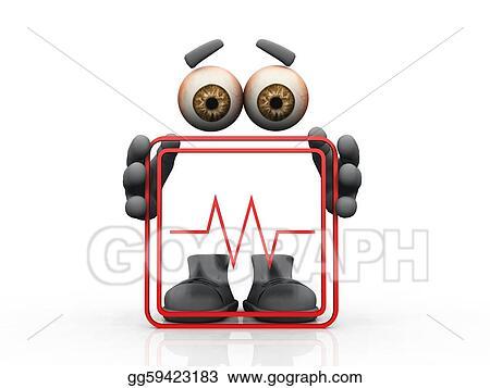 Stock Illustrations - Red frame, eyes, hands, feet. Stock Clipart ...