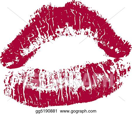 stock illustration red kissing lips clipart gg5190881 gograph rh gograph com kissing lips images clip art Animated Kissing Lips