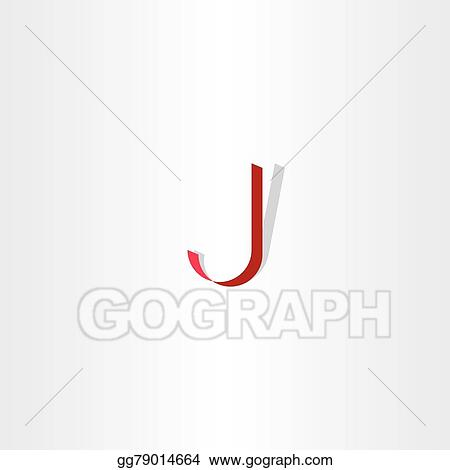 Vector Illustration Red Letter J Logo Icon Eps Clipart Gg79014664
