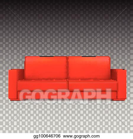 Vector Art Red Modern Luxury Sofa For Living Room