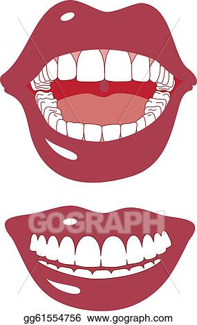 red mouth png clipart image - lip biting cartoon lips PNG image with  transparent background   TOPpng