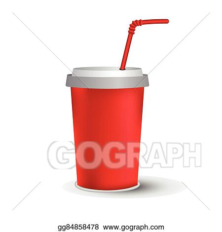 vector stock red paper cup template stock clip art gg84858478