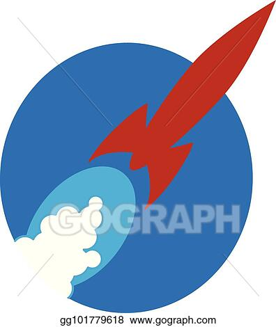 vector stock red rocket blast off clipart illustration gg101779618 gograph https www gograph com clipart license summary gg101779618